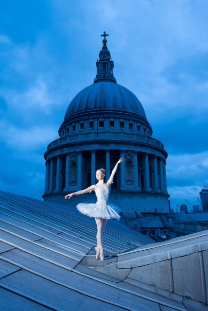 ballerina on the roof of St Paul's Cathedral